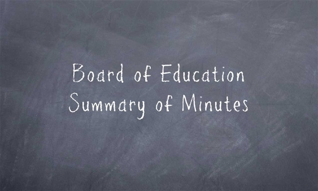 School Calendar, Substitute Teacher Pay Among Action Items During May Meeting of the Board