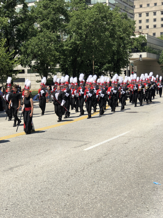 Marching Bulldogs on Independence Day!